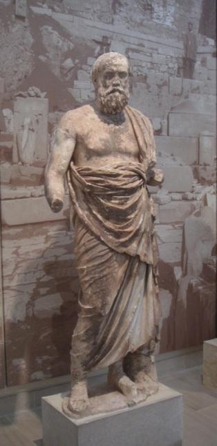 Sócrates (?), escultura achada em escavações emDelfos
