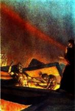 O Inferno, ilustração para o canto X, de Amos Nattini(1892-1985)