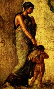 Venus punindo cupido (afresco encontrado emPompéia)
