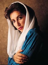 Benazir Bhutto no dia do seucasamento