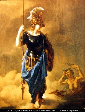 Athena visita a inveja, Karel Durjadin(1626-1678)
