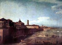 Torino, Veduta Del Palazzo Reale Da Fuori Le Mura